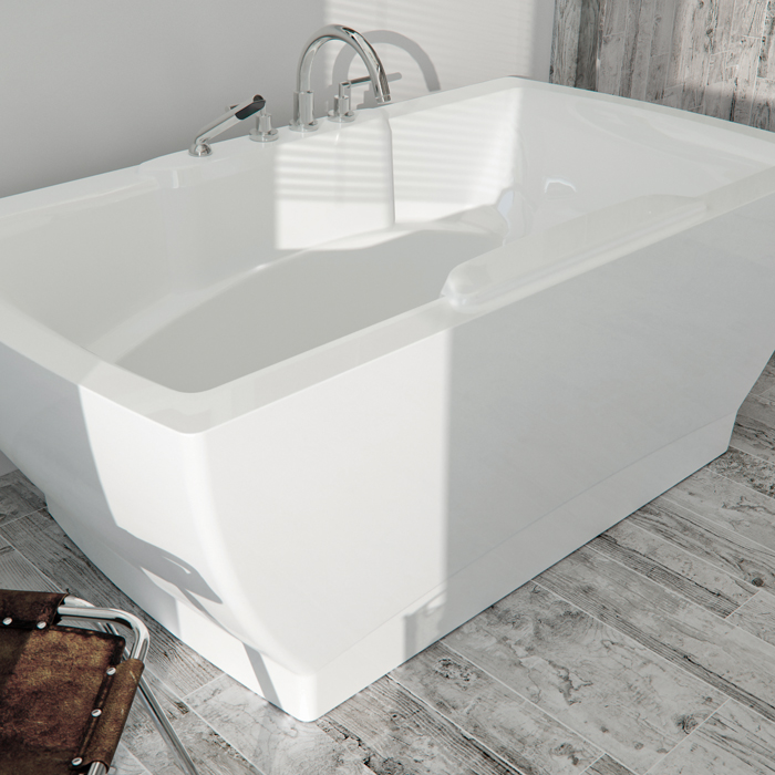 72 x 36 alcove se3672f1a seria vibro air rectangular for Alcove bathtub dimensions